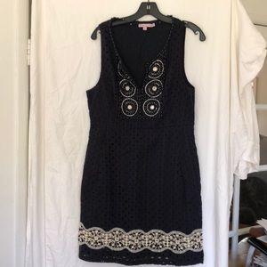 Calypso St. Barth blue sleeveless cotton dress